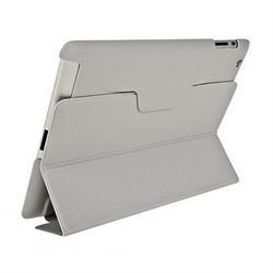 Чехол для New iPad с пластиковой зад.частью серый (52723) - фото 13247