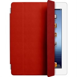 Чехол Apple Smart Cover Red для iPad 2/New iPad кожа MD304 - фото 20497