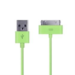 USB дата кабель для iPad/iPhone/iPod 1м зелёный - фото 21067
