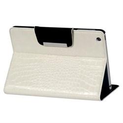 Чехол для iPad mini под крокодиловую кожу (белый) - фото 22029