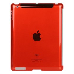 Накладка Crystal case for ipad 2/3 красный - фото 22040