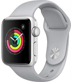 Apple Watch Series 3 (42 мм, корпус из серебристого алюминия, спортивный ремешок дымчатого цвета) - фото 29359