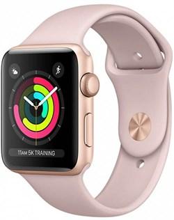 Apple Watch Series 3 (42 мм, корпус из золотистого алюминия, спортивный ремешок цвета «розовый песок») - фото 29372