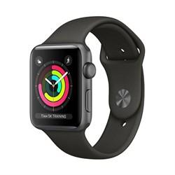 Apple Watch Series 3 (38 мм, корпус из алюминия цвета «серый космос», спортивный ремешок серого цвета) - фото 29378