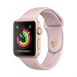Apple Watch Series 3 (38 мм, корпус из золотистого алюминия, спортивный ремешок цвета «розовый песок») - фото 29387