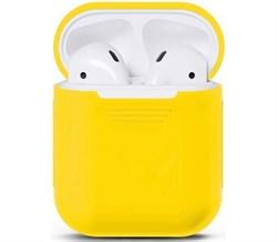Чехол силиконовый Gurdini Soft Touch для AirPods желтый - фото 30440