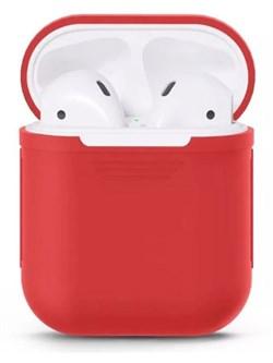 Чехол силиконовый Gurdini Soft Touch для AirPods красный - фото 30442