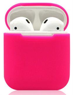 Чехол силиконовый Gurdini Soft Touch для AirPods малиновый - фото 30443
