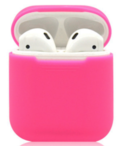 Чехол силиконовый Gurdini Soft Touch для AirPods розовый - фото 30445