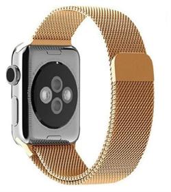 Миланский сетчатый ремешок Apple Watch 38mm с застежкой Gold - фото 30462