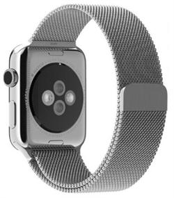 Миланский сетчатый ремешок Apple Watch 38mm с застежкой Silver - фото 30464