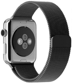 Миланский сетчатый ремешок Apple Watch 38mm с застежкой Space Black - фото 30466