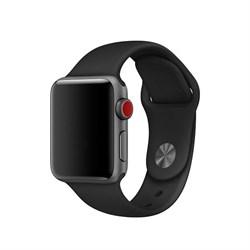 Спортивный ремешок Apple Watch 38mm с застежкой Black - фото 30471