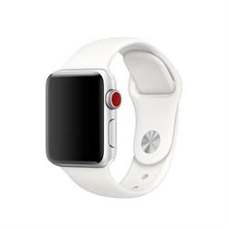 Спортивный ремешок Apple Watch 38mm с застежкой White - фото 30473
