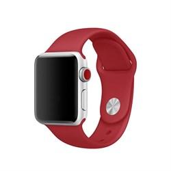 Спортивный ремешок Apple Watch 38mm с застежкой Red - фото 30475