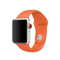 Спортивный ремешок Apple Watch 38mm с застежкой Spicy Orange - фото 30476