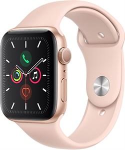 """Apple Watch Series 5 40 мм Корпус из алюминия золотого цвета, спортивный ремешок цвета """"розовый песок"""" - фото 31072"""