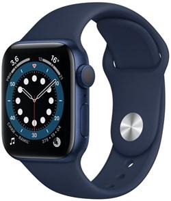 Apple Watch Series 6 40 мм Корпус из алюминия синего цвета, спортивный ремешок цвета «Тёмный ультрамарин» - фото 32026