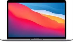 "Ноутбук APPLE MacBook Air M1 13.3"", IPS, Apple M1 8ГБ, 256ГБ SSD, Mac OS, MGN63RU/A, серый космос - фото 33490"
