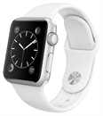 Apple Watch (38mm Stainless Steel Case with White Sport Band)