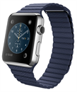Apple Watch (42mm Stainless Steel Case with Bright Blue Leather Loop)