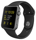 Apple Watch Sport (42mm Space Gray Aluminum Case with Black Sport Band)