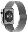 Миланский сетчатый ремешок Apple Watch 38mm с застежкой Silver