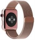 Миланский сетчатый ремешок Apple Watch 38mm с застежкой Rose Gold