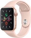 """Apple Watch Series 5 44 мм Корпус из алюминия золотого цвета, спортивный ремешок цвета """"розовый песок"""""""