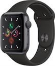 Apple Watch Series 5 40 мм Корпус из алюминия цвета «серый космос», спортивный ремешок чёрного цвета