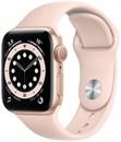 """Apple Watch Series 6 40 мм Корпус из алюминия золотого цвета, спортивный ремешок цвета """"Розовое песок"""""""