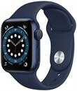 Apple Watch Series 6 44 мм Корпус из алюминия синего цвета, спортивный ремешок цвета «Тёмный ультрамарин»