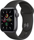 """Apple Watch SE 40 мм Корпус из алюминия цвета """"Серый космос"""", спортивный ремешок черного цвета"""