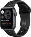 """Apple Watch SE Nike 44mm корпус из алюминия цвета """"Серый космос"""", спортивный ремешок Nike цвета Выберите цвет ремешка «Антрацитовый/чёрный»"""