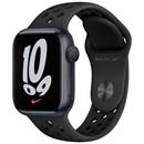 Apple Watch Nike Series 7 45 мм Корпус из алюминия цвета «Тёмная ночь», спортивный ремешок Nike цвета «Антрацитовый/чёрный»
